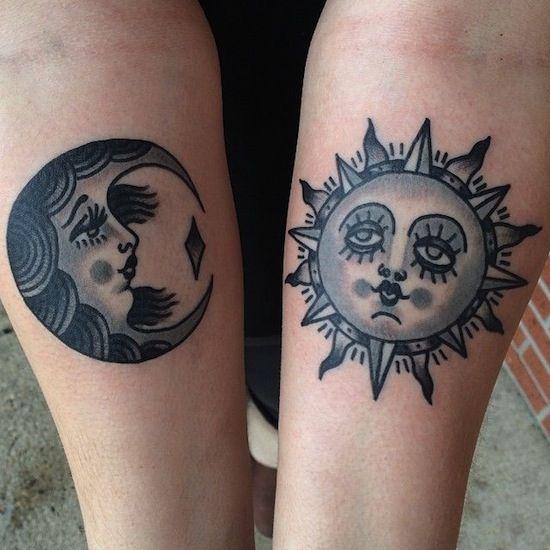 Pretty sun and moon by ivan antonyshev matching tattoos for Sun and moon matching tattoo