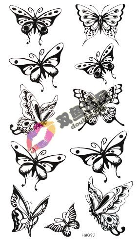 29c1cba2e small printable butterflies - Google Search Black Butterfly Tattoo, Butterfly  Stencil, Small Tattoo Designs