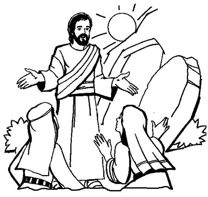 for Jesus resurrection coloring pages