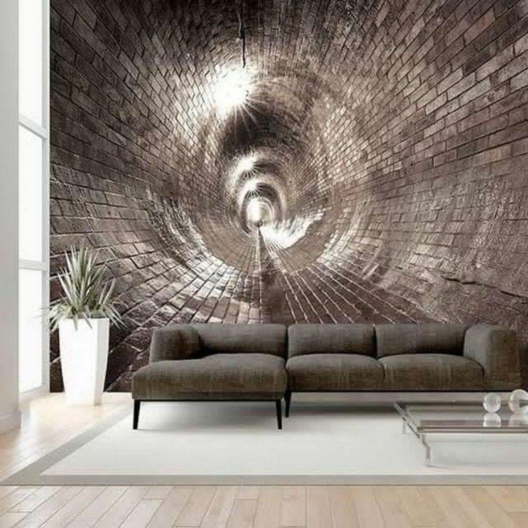 22 Amazing 3d Wall Mural Design Ideas Living Room Page 13 Of 24 3d Wall Murals Mural Design Living Room Sofa Design