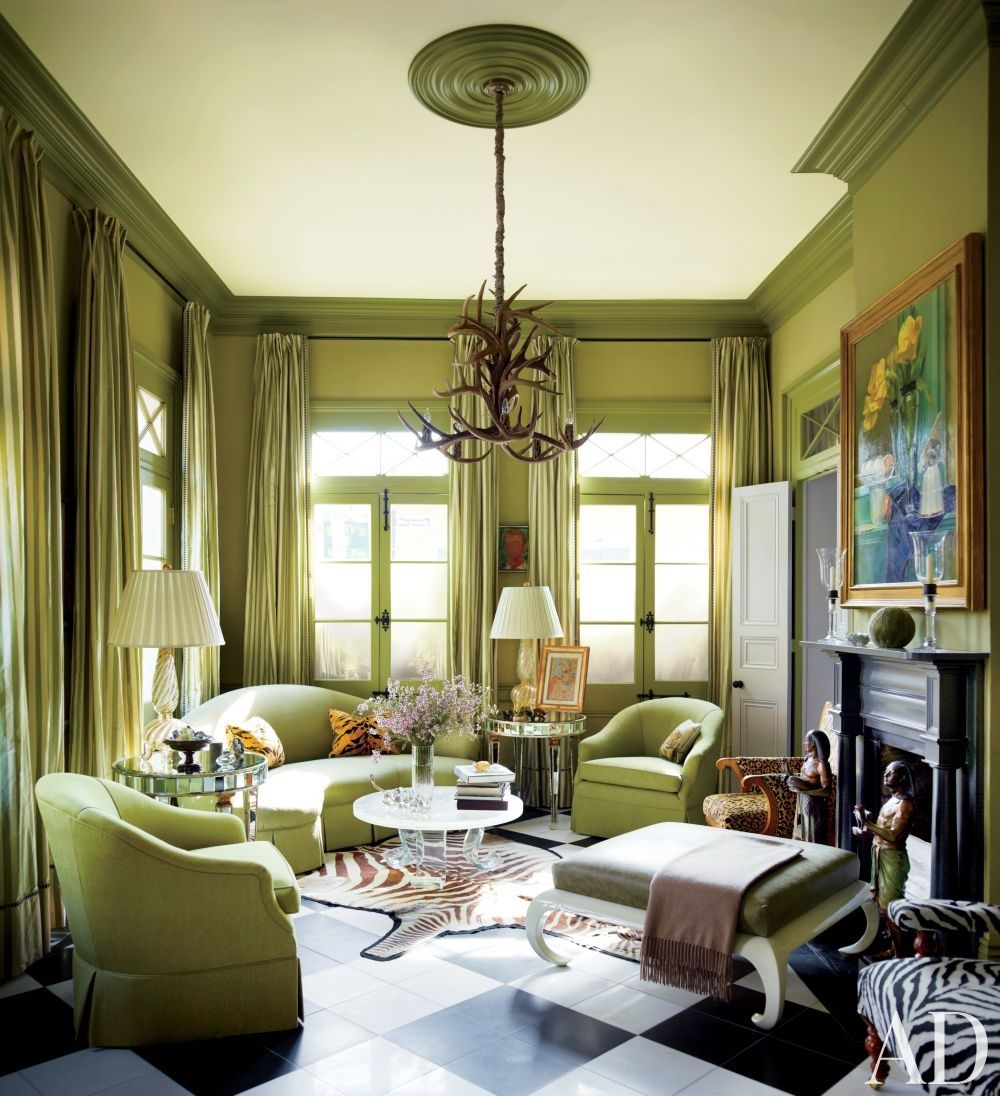 Living Room Sets New Orleans amazing use of green!traditional living room in new orleans