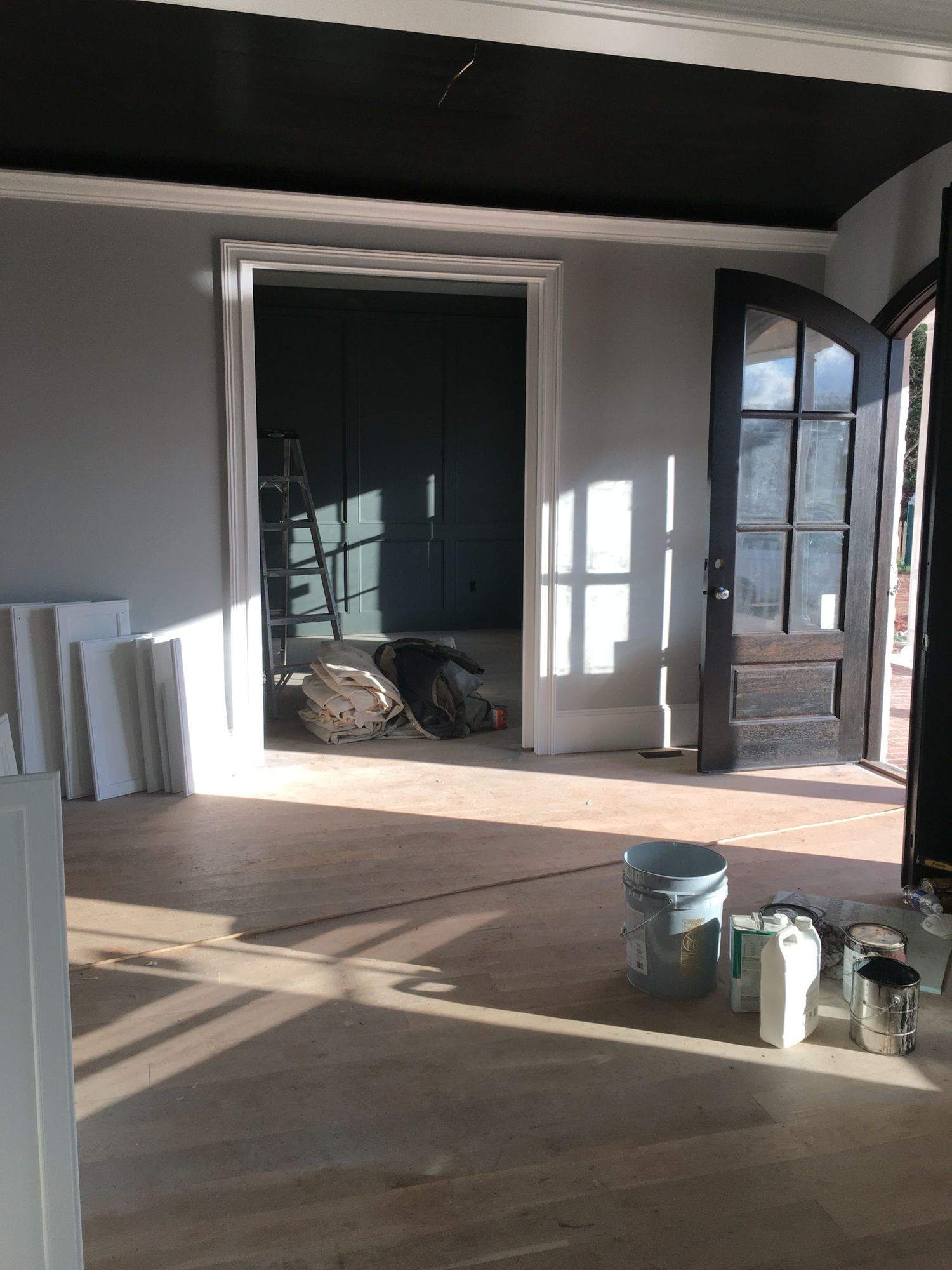 View From Dining Room Looking At Entry Way And Office
