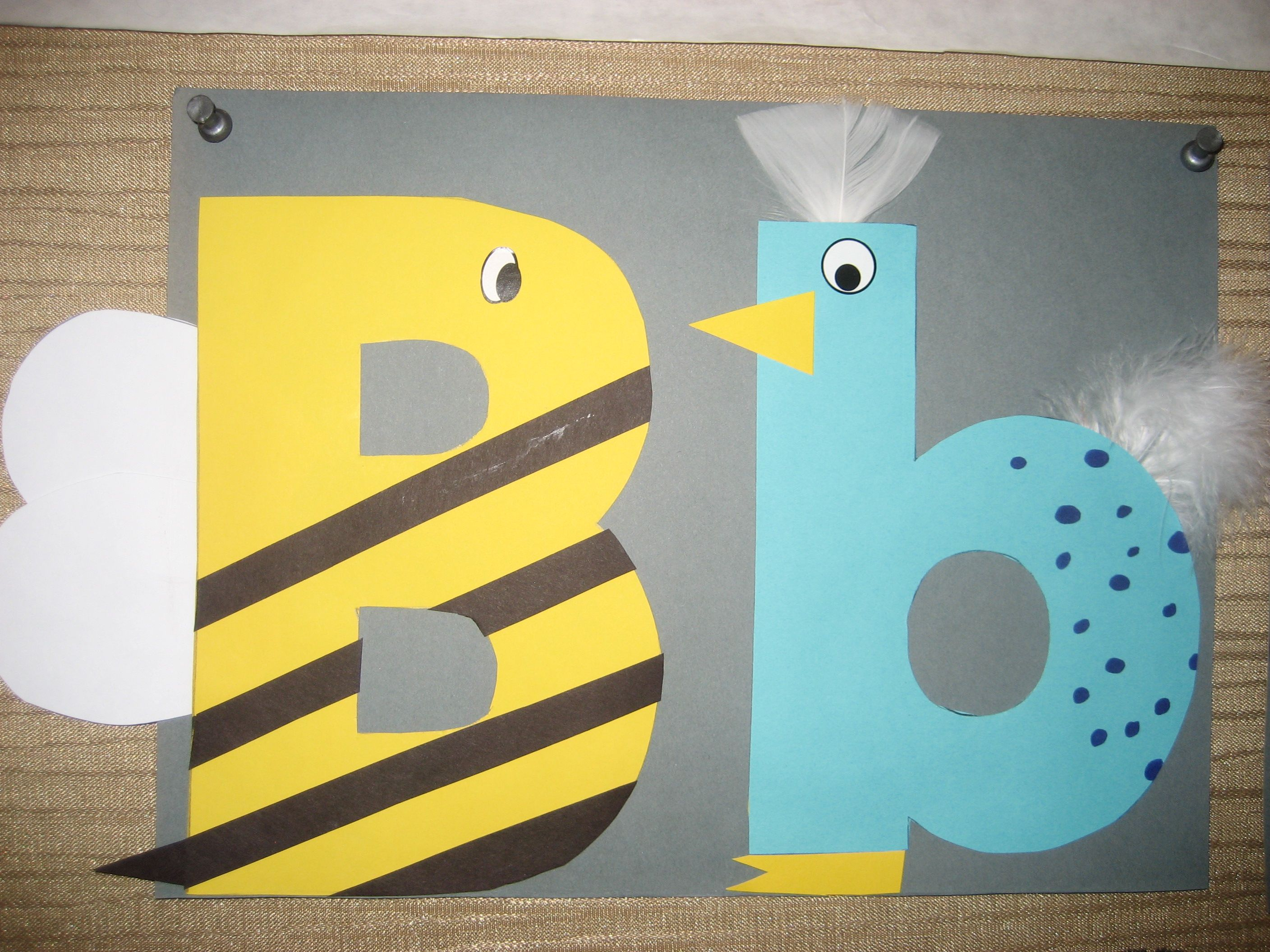 Bb Letter Of The Week Art Project Bumblebee Amp Bird