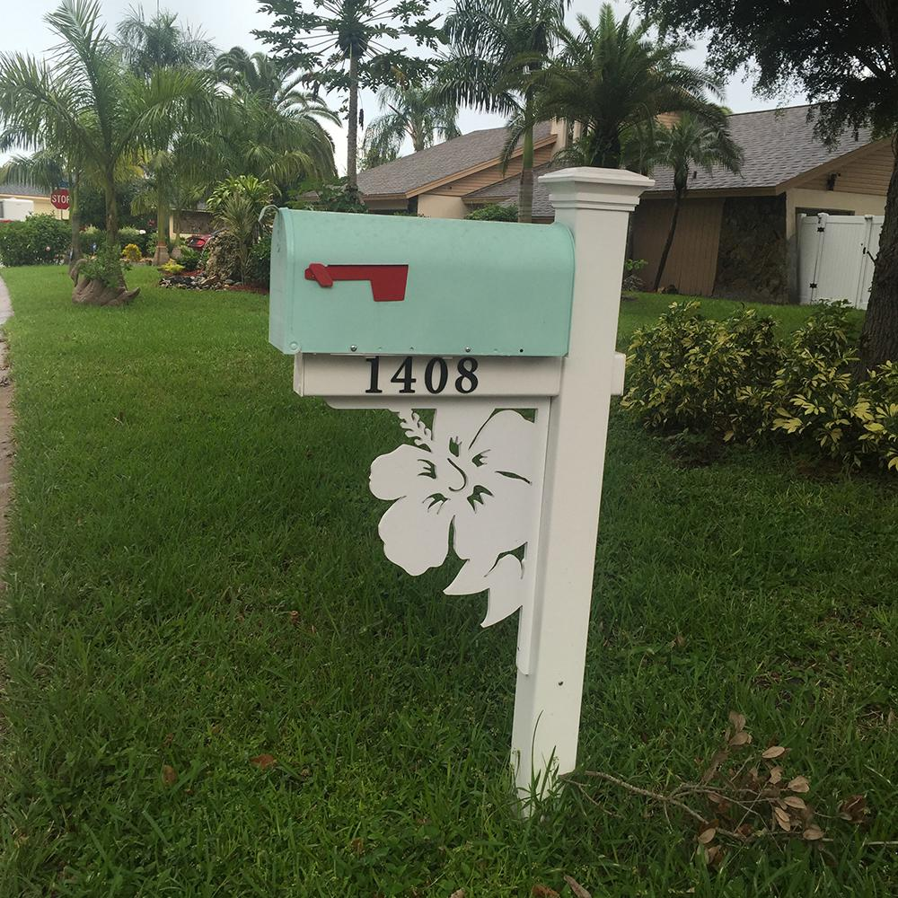 Nature Brackets Decorative 16 In Paintable Pvc Hibiscus Mailbox Or Porch Bracket Hibiscus Nbhb The Home Depot Mailbox Decor Painted Mailboxes Mailbox Makeover