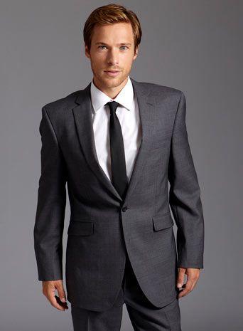 Gray Suit Combinations Label grey sharkskin suit | Grey suit ...