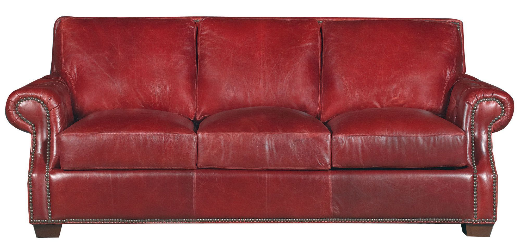 Classic Traditional Red Leather Sofa Old English Apprendre L