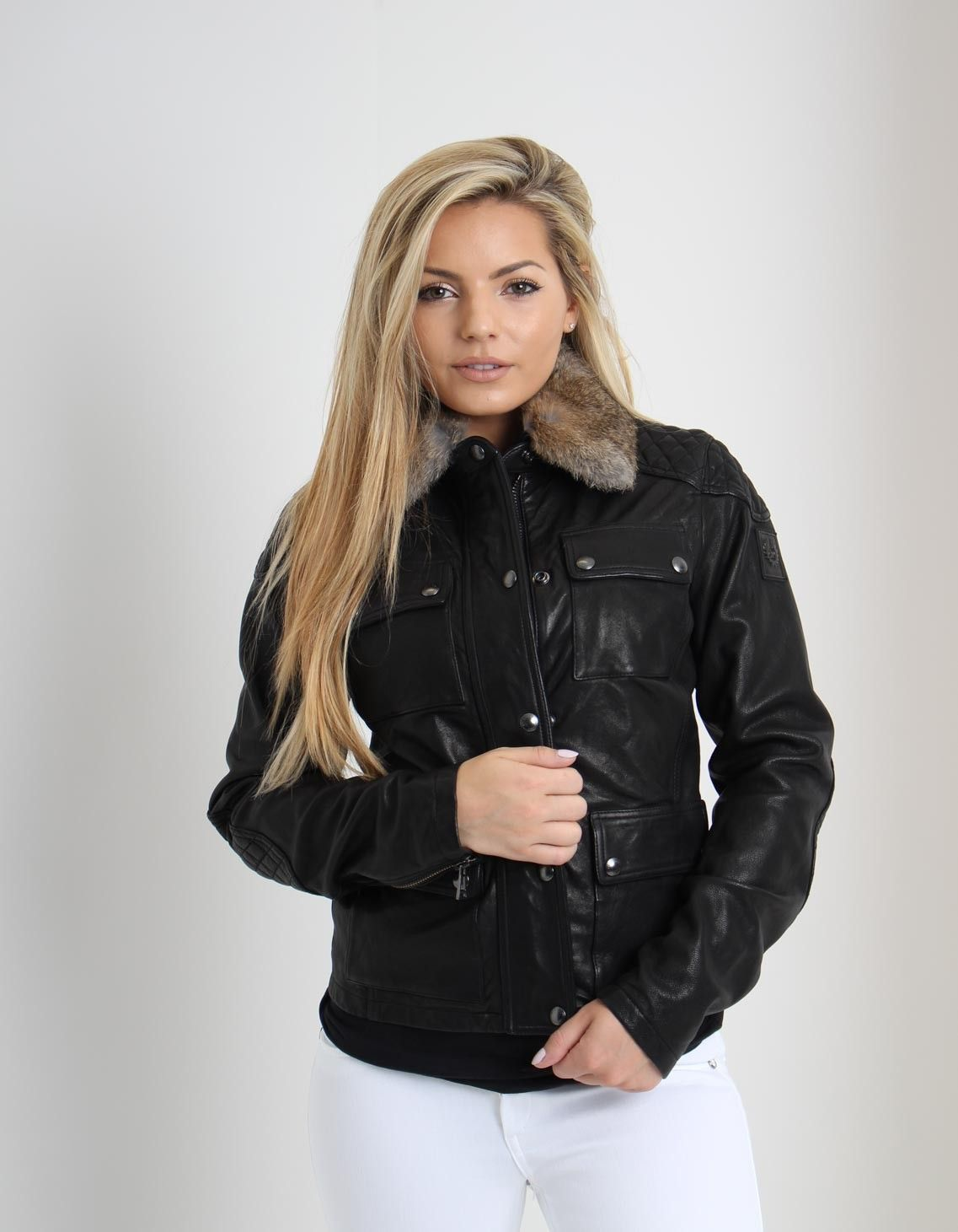 Belstaff Attebury Black Leather Jacket   Accent Clothing
