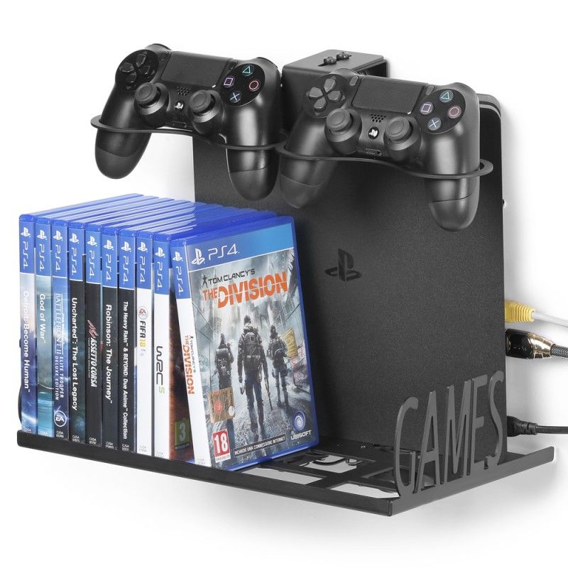 Wall Mount With Pad And Game Cases Holder Ps4 E Xbox Eagle Grab