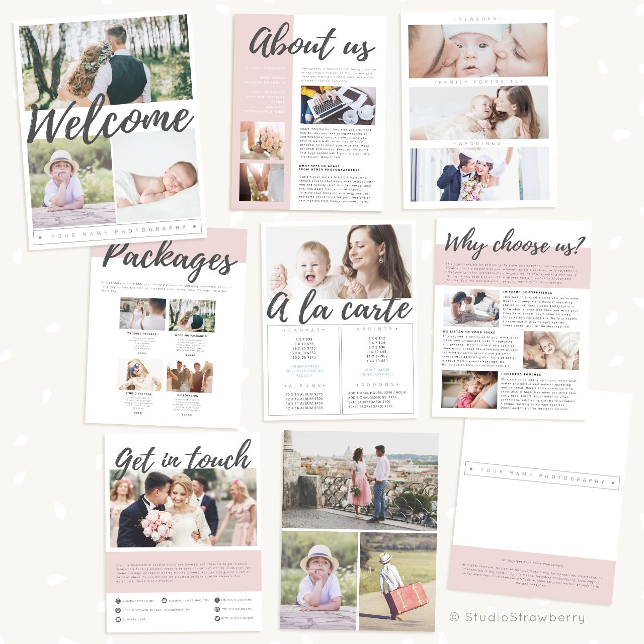 Hand Lettering Welcome Guide Template Photography Brochure