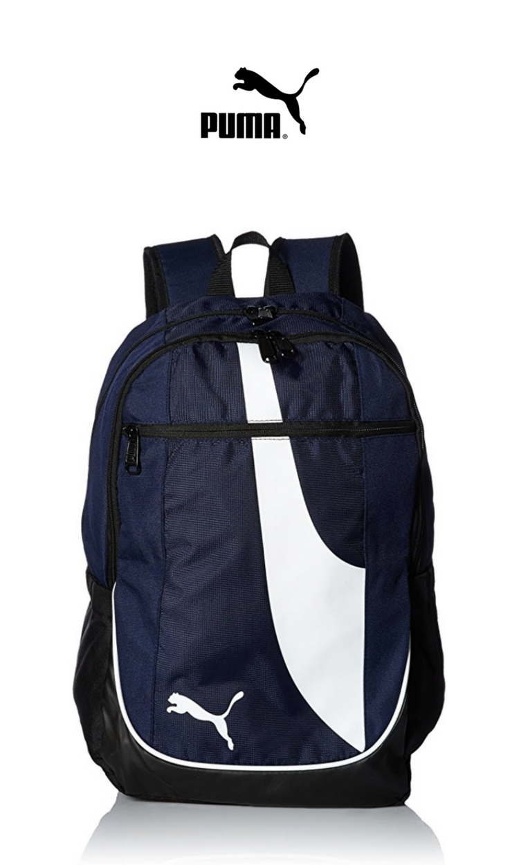 PUMA - Form Stripe Backpack   Navy   Click for Price and More   Backpack  Ideas 2ae920dabb