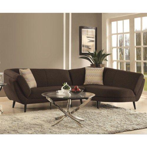 Coaster Norwood Mid Century Modern Two Piece Sectional Sofa Fine Furniture Casalona Pinterest Coasterid