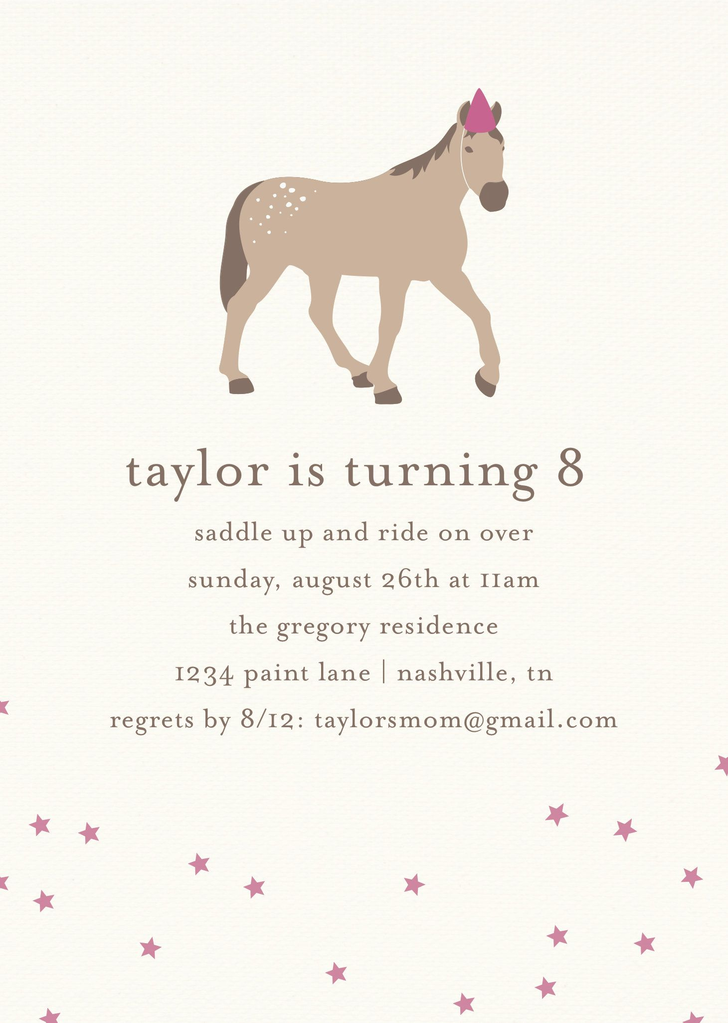 Kentucky Derby Pony Party Invitation Template