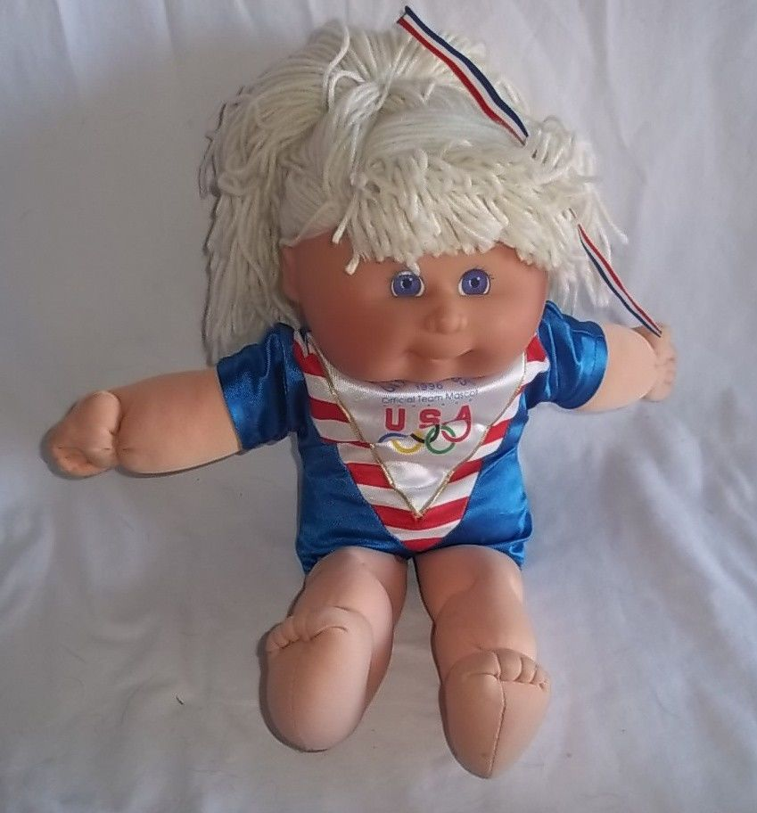 Cabbage Patch Olympikids 1996 Olympics Official Team Mascot Blonde Girl Doll Team Mascots Girl Dolls Dolls