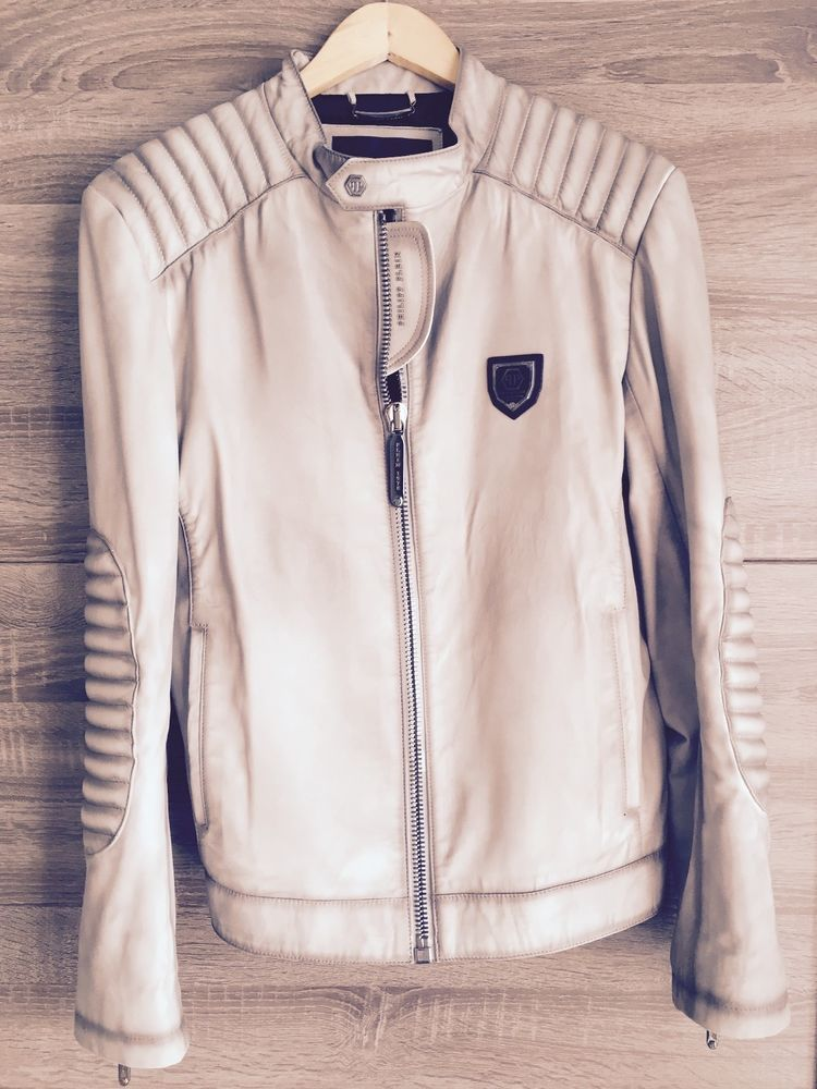 16c6e0c660 Details about Philipp Plein Leather Jacket