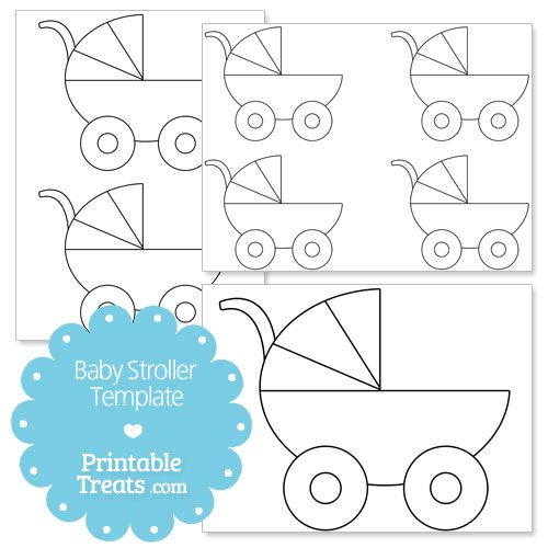 Printable Baby Stroller Template from PrintableTreats.com | Baby ...