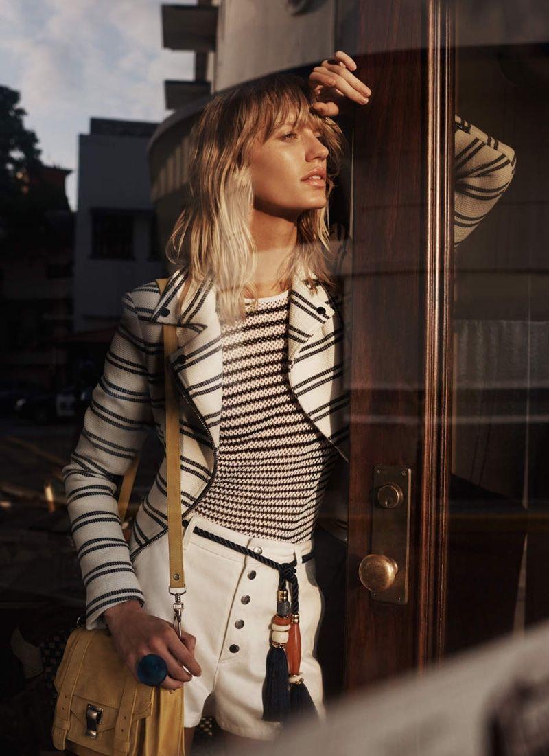36e82691a052 Shop the Summer Look Book   . Veronica Beard Hadley Chevron Moto Jacket