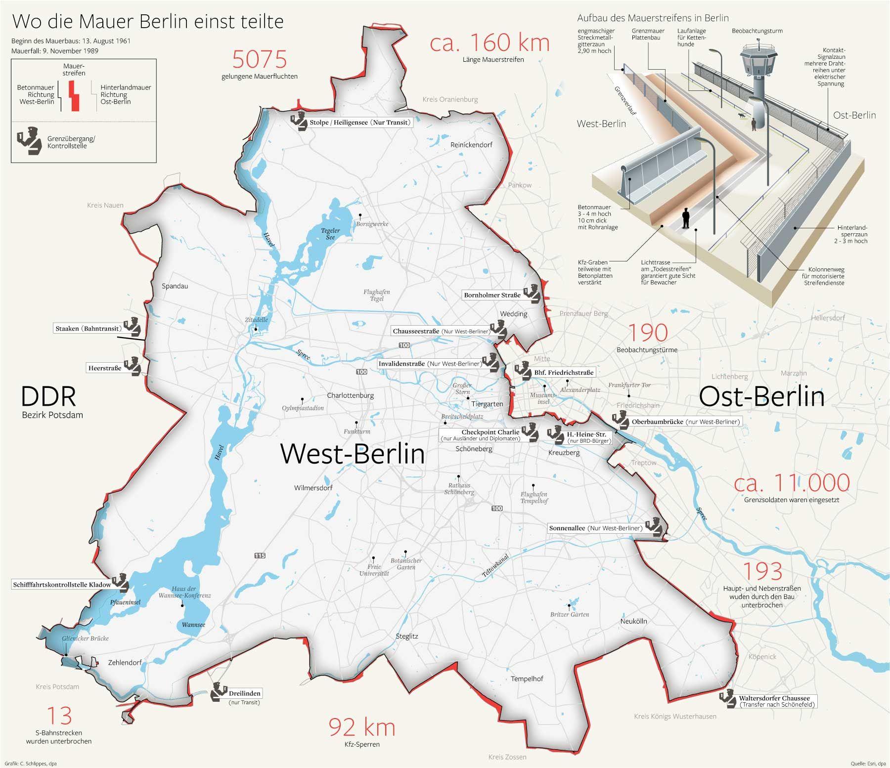 berliner mauer karte deutschland Was von Todesstreifen und Teilung blieb | Berliner mauer, Berlin