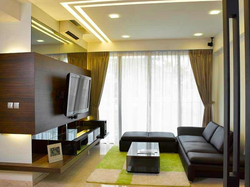 Simple pop designs for living room part 5 room false for Pop interior design for hall