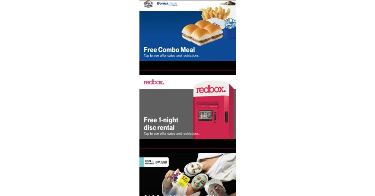 FREE White Castle Combo Meal, Redbox Rental, Discounts