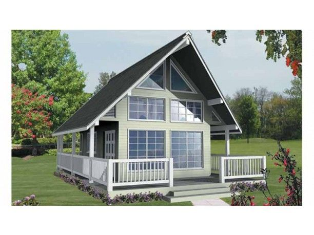 Traditional Style House Plan 1 Beds 1 Baths 582 Sq Ft Plan 118 156 A Frame House Plans House Plan With Loft Cottage House Plans