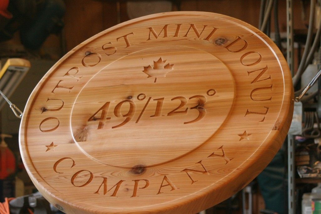 Carved Wood Sign They Make Garden Gates, Laser Cut, They Work In Wood And