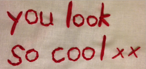 you look cool