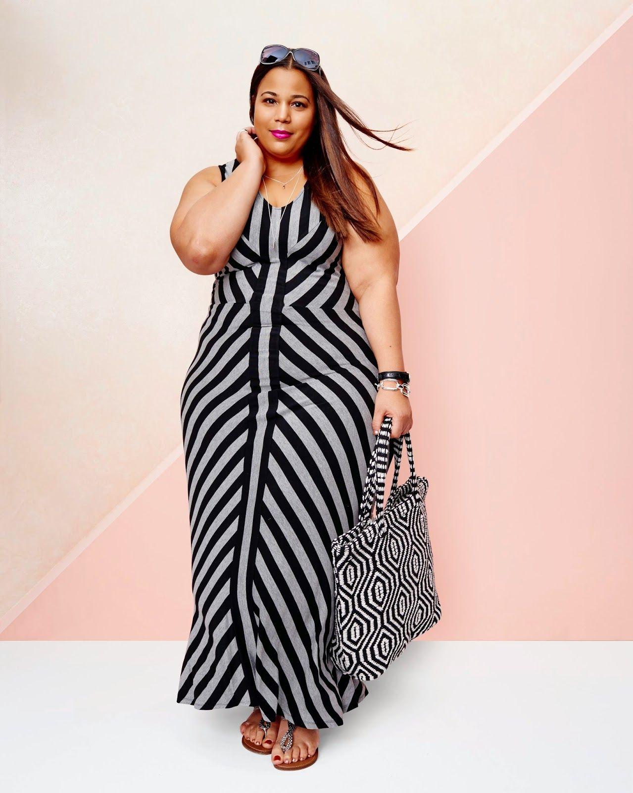 1616b8b0f12 Chastity Garner wearing the striped maxi dress