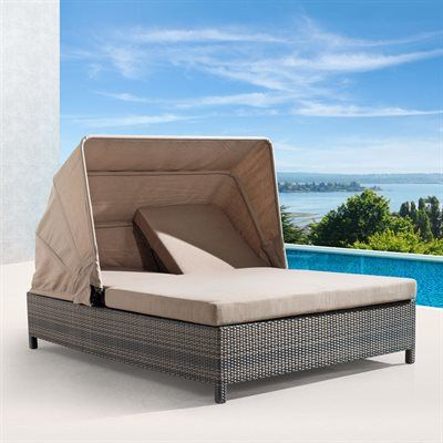 """Zuo Modern Siesta Key Outdoor Double Chaise Lounge 55""""x 78"""