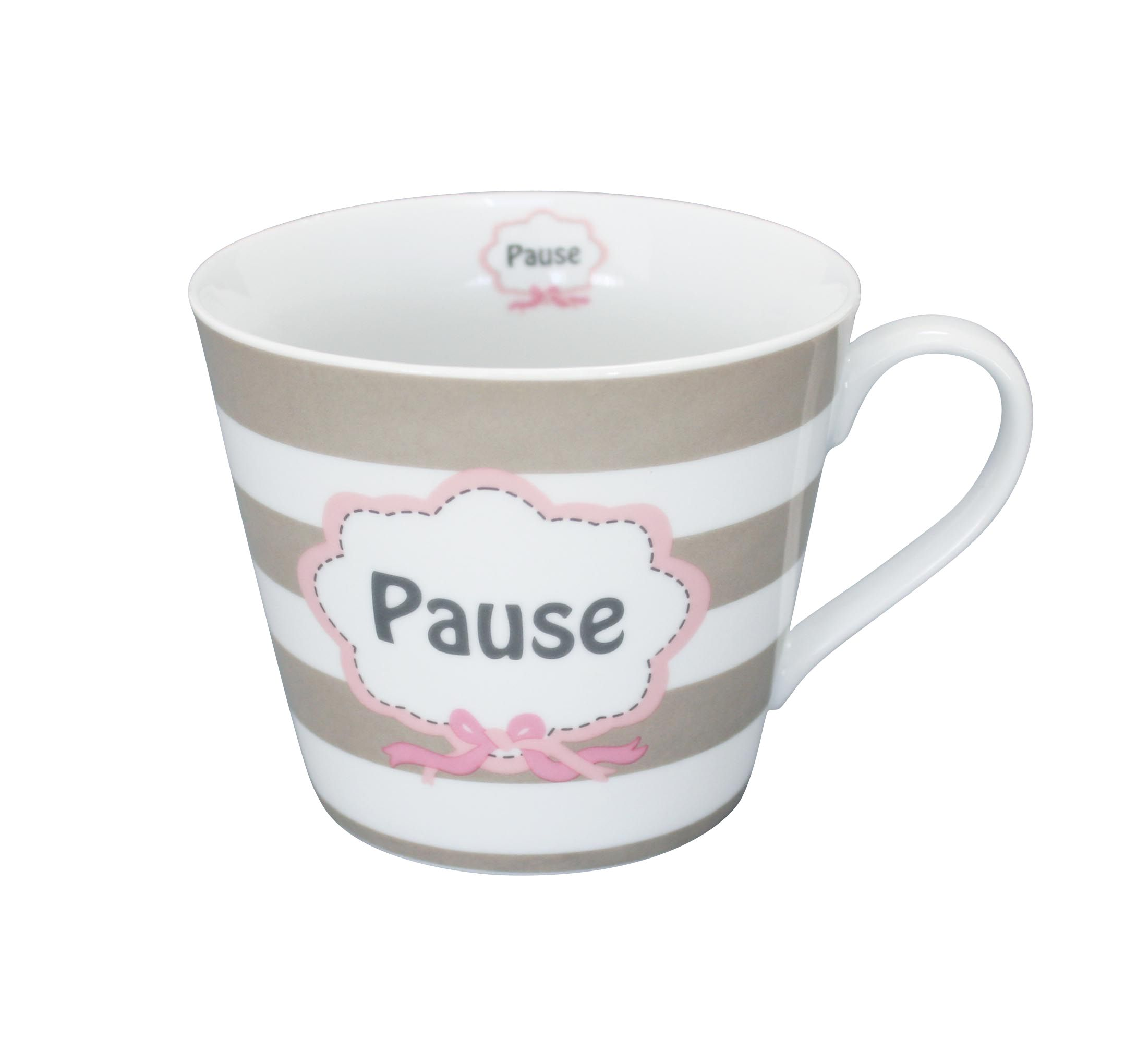 Krasilnikoff Happy Cup Tasse, Pause Material Porzellan