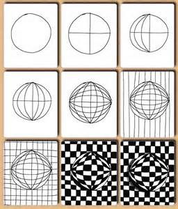 Simple Optical Art Drawing