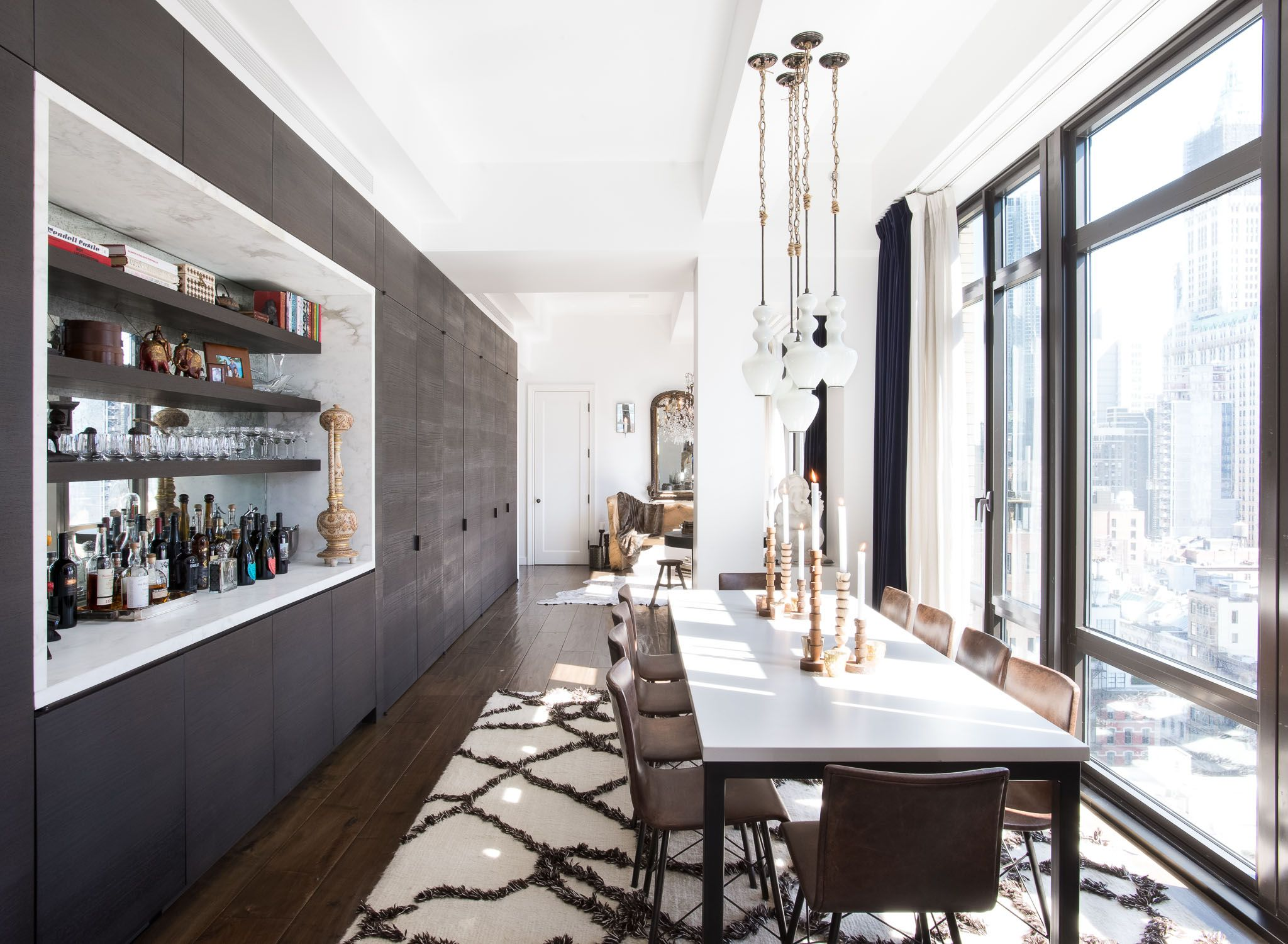 A worldly home on top of manhattan wet bars room and decorating