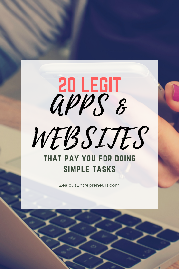 20 Legit Apps that pay you for doing simple tasks games