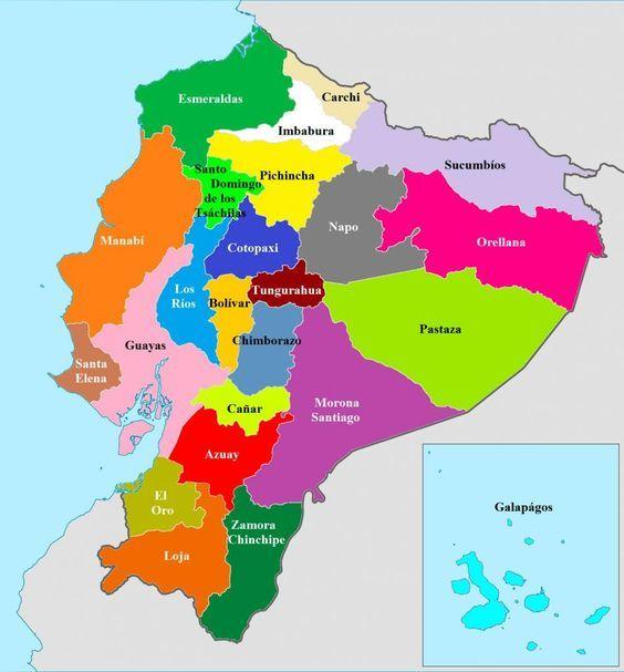 Mapa Del Ecuador Solo Con Sus Provincias Buscar Con Google Ecuador Travel Ecuador Map Quito Ecuador