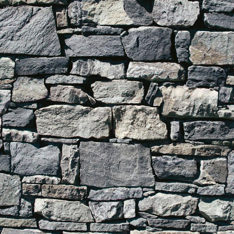 Muriva Dry Stone Wall 3D Effect Wallpaper in Grey J49409