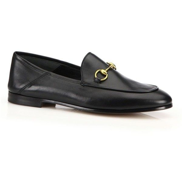 1b391a88e Gucci Brixton Foldable Leather Loafers ($630) ❤ liked on Polyvore featuring  shoes, loafers, apparel & accessories, gucci, gucci shoes, loafers &  moccasins, ...