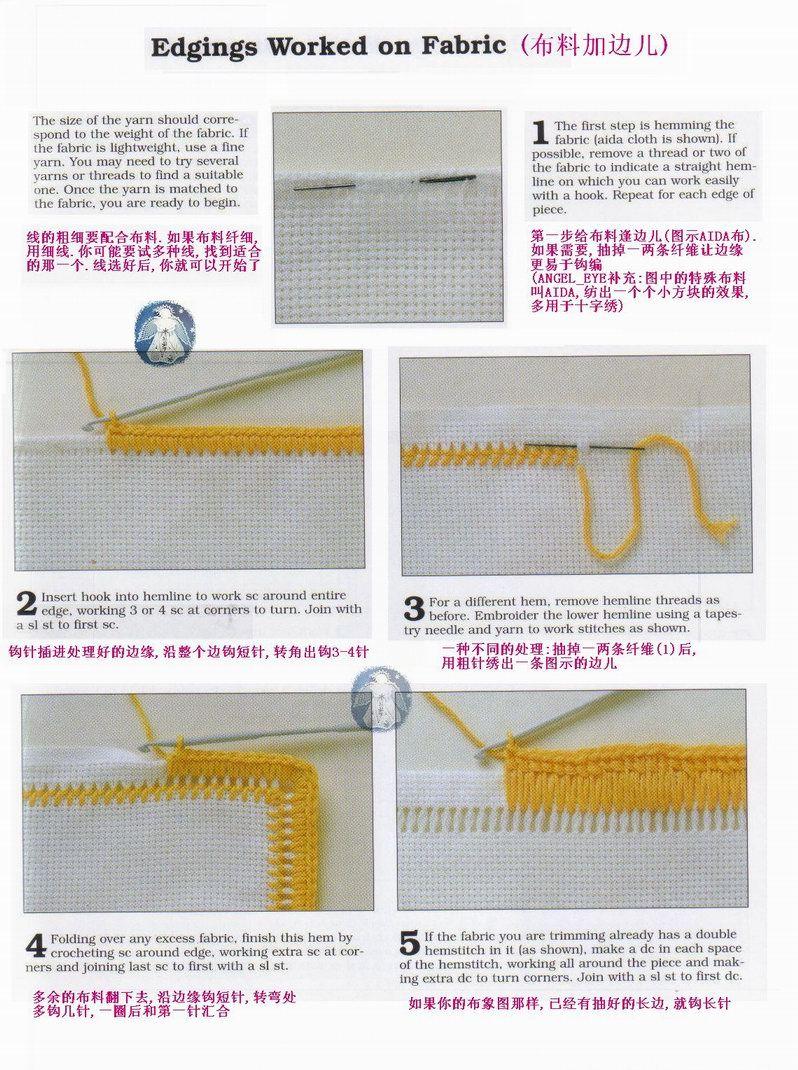 Cómo tejer bordes en crochet, Patrones de Crochet   Knitting away ...