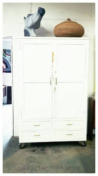 Large Farmhouse Wardrobe on Wheels - Castanet Classifieds
