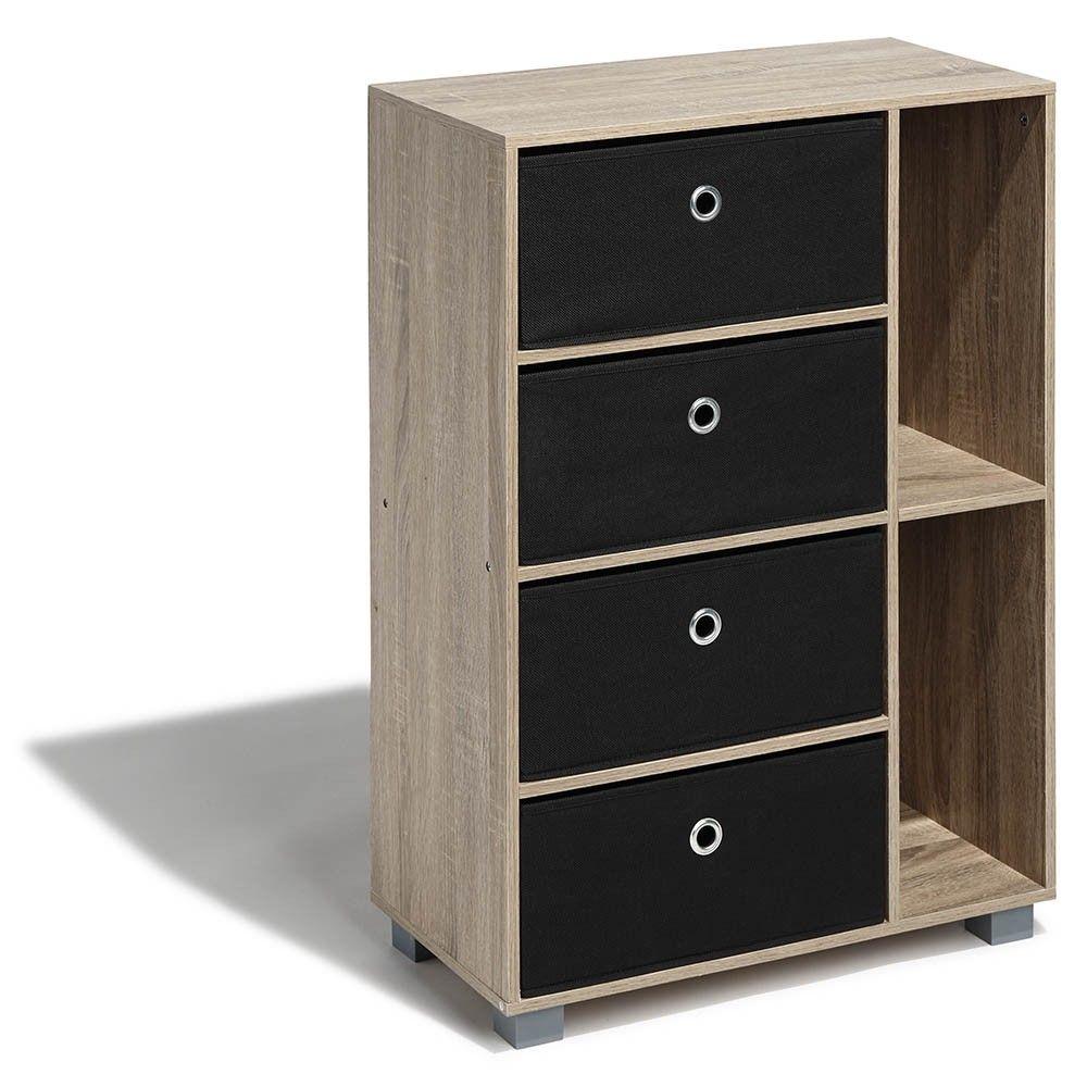 Chiffonnier Naturel Utah 4 Tiroirs Et 2 Niches Commode Et Meuble De Rangement Chambre Meuble Gifi Home Decor Decor Furniture