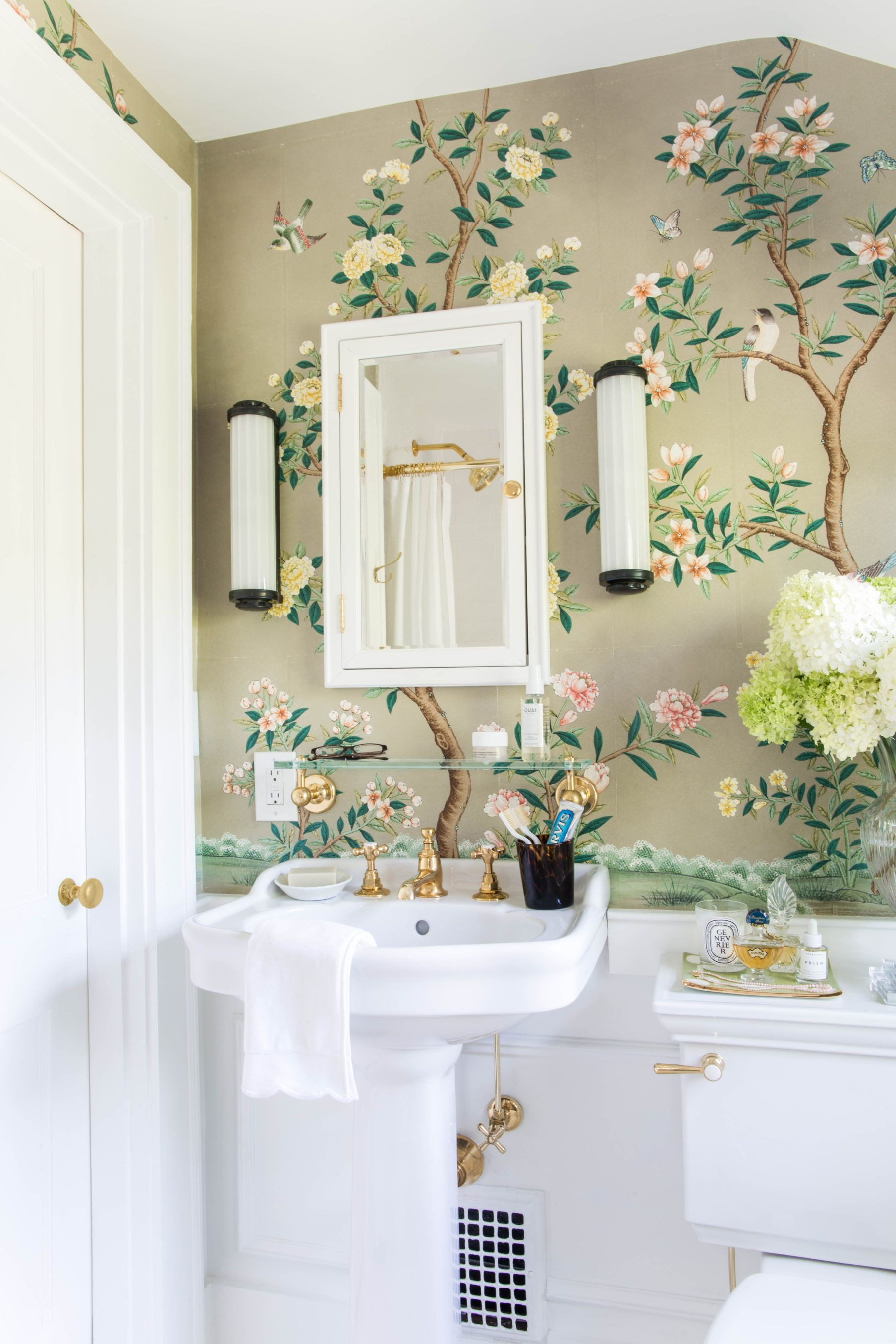 Our Guest Bathroom Reveal in 2020 Powder room wallpaper