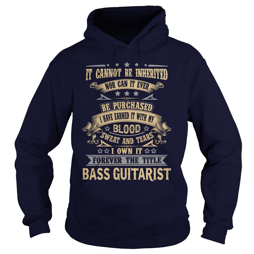 BASS GUITARIST FOREVER THE TITLE T-Shirts, Hoodies. ADD TO CART ==►…