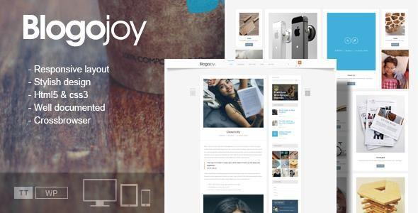 Blogojoy – Minimalist Blog WordPress Theme