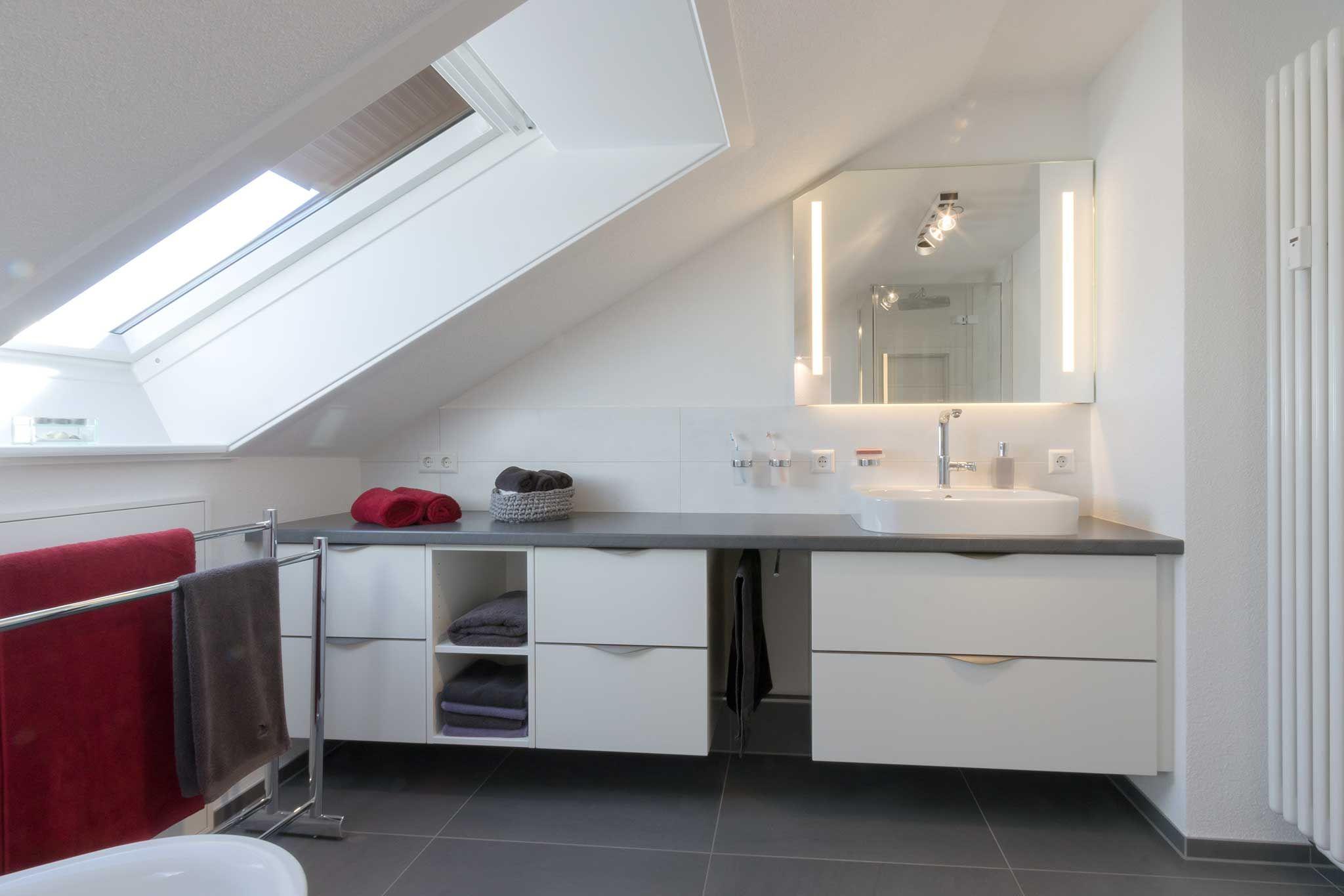 Schubladen Badezimmer ~ Lange waschtisch mit vielen schubladen tischplatte dunkelgrau
