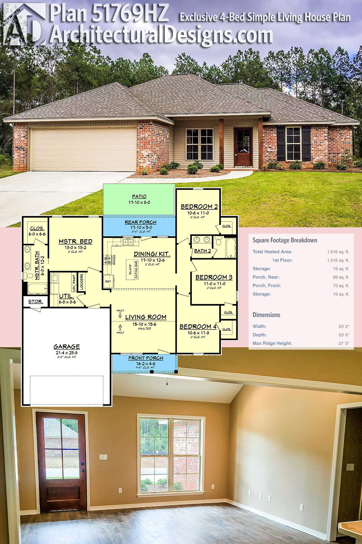 House 4 Bed Architectural Designs Plan