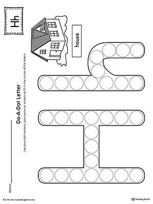 Letter H Do A Dot Worksheet Letter H Worksheets Dot Worksheets Kindergarten Letters Letter h worksheets for preschoolers