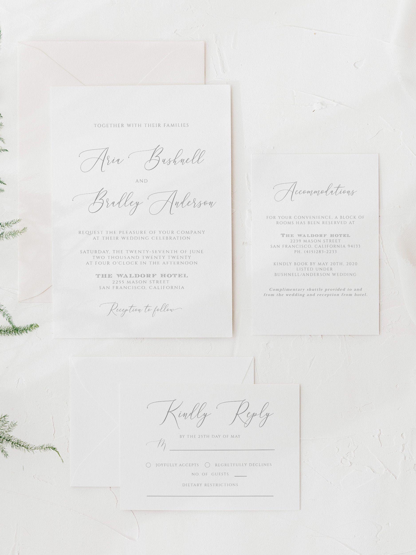 ARIA Modern Calligraphy Wedding Invitation Suite