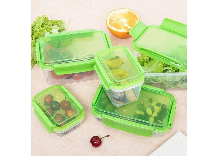 dmail 10 contenitori con coperchio per alimenti (con