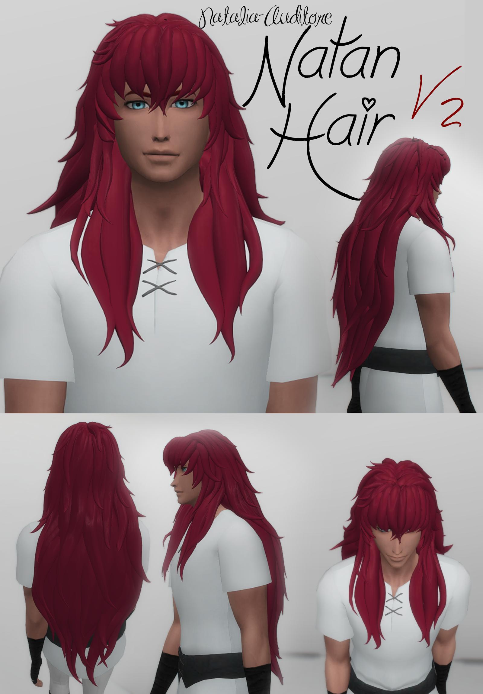 Natan Hair V2 Sims hair, Sims 4, Sims mods