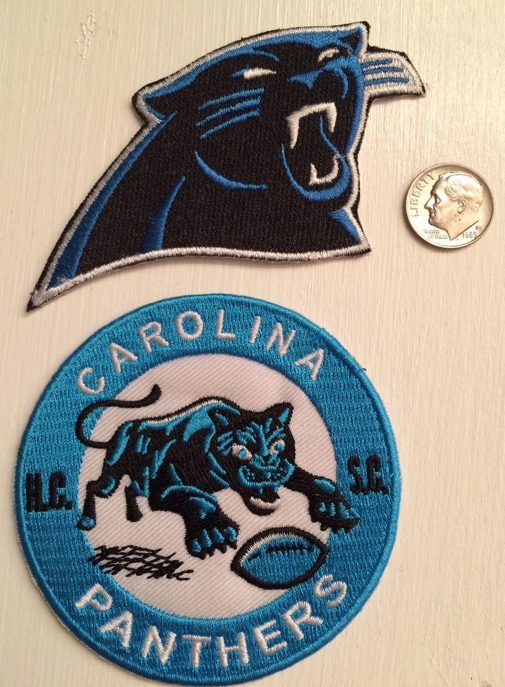 buy popular 89d9f 4e179 2 - Carolina Panthers Vintage Embroidered Iron On Logo ...