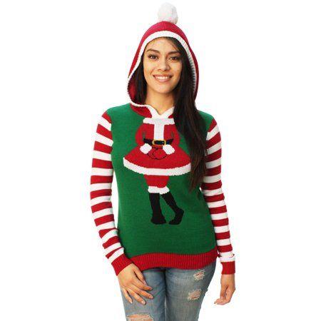 Free Shipping Buy Ugly Christmas Sweater Womens Cute Santa Girl