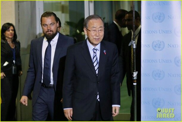 Leo receives the UN Messenger of Peace Honour